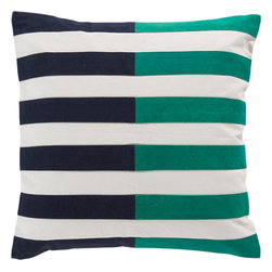 "Surya - Surya AR-132 Spellbound By Stripes Pillow, 22"" x 22"", Down Feather Filler - Multilayered and hypnotizing design will effortlessly redefine your space, fashioning a look that will surely shine in any home decor. With its marvelously multicolored, seemingly stripe design, this piece will offer a unique statement that emanates chic, charming trend. Genuinely faultless in aspects of construction and style, this piece embodies impeccable artistry while maintaining principles of affordability and durable design, making it the ideal accent for your decor."