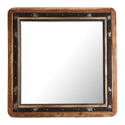 Ren-Wil - Oxley Mirror - 30W x 30H in. Multicolor - MT1461 - Shop for Mirrors from Hayneedle.com! Enrich your rustic decor with the natural texture and aged finish of the Oxley Mirror 30W x 30H in.. Crafted from genuine mango wood this beautiful mirror features a natural wood finish paired with a distressed black-finished metal band accented with decorative studs.About Ren-WilFor over 45 years Ren-Wil has been creating quality wall decor mirrors and lighting that enhances any space. The company's talented team of in-house artists travels the world to find the newest materials fashions and trends and then applies them to their work. The team also uses multi-media designs for many of their pieces. Ren-Wil is the leader in Alternative Wall DEcor and is the market leader in Canada. They thrive on offering a fresh innovative product line and superior customer service.