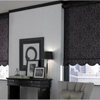 Roller Shades- Living Room - Roller Shades, also referred to as roll up blinds are easy to operate and the perfect blend of fashion and function. Roller Shades from 3 Day Blinds are available in motorized, cordless and continuous cord loop which are more child and pet safe.