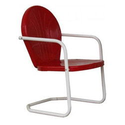 Retro Metal Lawn Chair - Backyards can be retro chic. These chairs are great for themed backyards.