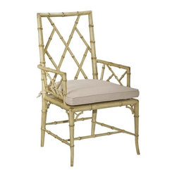 EuroLux Home - New Dining Arm Chair Consigned Antique White Paint - Product Details