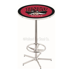Holland Bar Stool - Holland Bar Stool L216 - 42 Inch Chrome Unlv Pub Table - L216 - 42 Inch Chrome Unlv Pub Table  belongs to College Collection by Holland Bar Stool Made for the ultimate sports fan, impress your buddies with this knockout from Holland Bar Stool. This L216 UNLV table with retro inspried base provides a quality piece to for your Man Cave. You can't find a higher quality logo table on the market. The plating grade steel used to build the frame ensures it will withstand the abuse of the rowdiest of friends for years to come. The structure is triple chrome plated to ensure a rich, sleek, long lasting finish. If you're finishing your bar or game room, do it right with a table from Holland Bar Stool.  Pub Table (1)