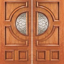 """Front Double Door Mahogany Radius Lite with Casting Glass - SKU#670-2BrandAAWDoor TypeExteriorManufacturer CollectionUnique Entry DoorsDoor ModelDoor MaterialWoodWoodgrainMahoganyVeneerPrice1960Door Size Options2(30"""") x 80"""" (5'-0"""" x 6'-8"""")  $02(32"""") x 80"""" (5'-4"""" x 6'-8"""")  $02(36"""") x 80"""" (6'-0"""" x 6'-8"""")  +$20Core TypeSolidDoor StyleCircle , ModernDoor Lite StyleRadius LiteDoor Panel StyleRaised MouldingHome Style MatchingColonial , Plantation , VictorianDoor ConstructionEngineered Stiles and RailsPrehanging OptionsPrehung , SlabPrehung ConfigurationDouble DoorDoor Thickness (Inches)1.75Glass Thickness (Inches)3/4Glass TypeTriple GlazedGlass CamingBlackGlass FeaturesInsulated , TemperedGlass StyleGlass TextureGlue ChipGlass ObscurityModerate ObscurityDoor FeaturesDoor ApprovalsFSCDoor FinishesDoor AccessoriesWeight (lbs)680Crating Size25"""" (w)x 108"""" (l)x 52"""" (h)Lead TimeSlab Doors: 7 daysPrehung:14 daysPrefinished, PreHung:21 daysWarranty1 Year Limited Manufacturer WarrantyHere you can download warranty PDF document."""