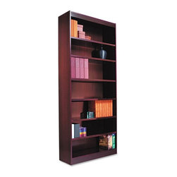 Alera - Alera BCS78436MY Square Corner Wood Veneer Bookcase - Mahogany Brown - ALEBCS784 - Shop for Bookcases from Hayneedle.com! About AleraWith the goal of meeting the needs of all offices -- big or small casual or serious -- Alera offers an excellent line of furnishings that you'll love to see Monday through Friday. Alera is committed to quality innovative design precision styling and premium ergonomics ensuring consistent satisfaction.