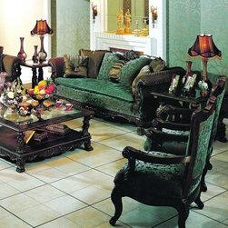 Yuan Tai Furniture - Ranburne Fabric/Woodtrim Sofa - RN5500S - Ranburne Collection Sofa
