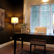 Contemporary Home Office by Flüff Designs & Decor