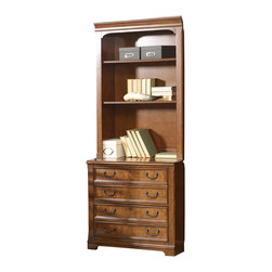 Hooker - Hooker Shelton Lateral File with Open Hutch - Hooker Furniture Shelton Lateral File with Open Hutch 5262-10416/10417