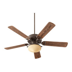 """Quorum Lighting - Quorum Lighting 52"""" Estate Uni Pack Transitional Ceiling Fan X-689-525341 - This Quorum Lighting ceiling fan from the Estate Collection pairs classic and contemporary details for a unique look and feel. This transitional ceiling fan is finished in a variety of hues, which add to its overall versatility, making it an easy addition into bedrooms, casual dining rooms, kitchens and more."""
