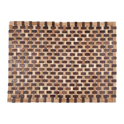 "None - Douglas Exotic Wood Mat (18""x30"") - Crafted of exotic wood, this handsome mat will add an elegant touch to any home. This is from Entryways' Exotic Woods Collection and meets the industry's highest standards. This design combines natural beauty and durability with surprising affordability."