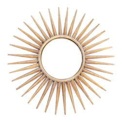 Sunray Mirror - Make it all sunshine in your living room space with this graceful Sunray mirror. It comes from our fine-quality European Country collection to give a ray of light to the surroundings. Place it above the fire mantle or on the central wall, it will exude functionality as well as style.