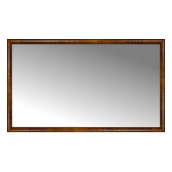 """Posters 2 Prints, LLC - 71"""" x 42"""" Belmont Light Brown Custom Framed Mirror - 71"""" x 42"""" Custom Framed Mirror made by Posters 2 Prints. Standard glass with unrivaled selection of crafted mirror frames.  Protected with category II safety backing to keep glass fragments together should the mirror be accidentally broken.  Safe arrival guaranteed.  Made in the United States of America"""