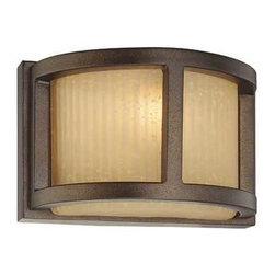 Dolan Designs Lighting - ADA Approved Single-Light Sconce - 2896-62 - This single-light sconce features Utah grooved glass which warms to a golden yellow when lit. The backplate measures 4-1/2-inches in height by 7-inches in width. Takes (1) 75-watt halogen T4 bulb(s). Bulb(s) sold separately. UL listed. Dry location rated.