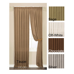None - Luster Crushed Faux Silk 95-inch Window Panel Pair - Cover your windows while enhancing your decor with this silk window panel pair. The panel pair is constructed from 100 percent polyester and features a rod-pocket design for easy hanging. These faux silk panels can be machine washed for easy care.