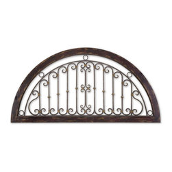 Uttermost - Calabria Wall Art - This wall art looks great right out of the gate. Made of forged metal that's heavily distressed for the look of age, use it to add eye-catching interest to your interiors.