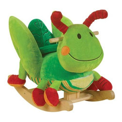 """Fifthroom - Plush George Grasshopper Rocker - George's comfortable seat will let your """"Grasshopper"""" rock comfortably while listening to a variety of eductational songs."""