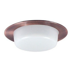 "Nora Lighting - Nora NTS-4224 4"" Drop Opal Shower Trim with Cone Reflector, Nts-4224co - 4"" Drop Opal Shower Trim with Cone Reflector"