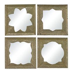 Sterling - Sterling 138-065/S4 Pine Islandset Of 4 Moroccan Motif Inspired Mirrors - Sterling 138-065/S4 Pine Islandset Of 4 Moroccan Motif Inspired Mirrors