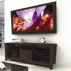 """dCOR design - Torino 60"""" TV Stand - Features: -Accomodates up to 68"""" TV.-TV Size Accommodated: Accomodates up to 68"""" TV.-Finish: Florence maple.-Powder Coated Finish: No.-Gloss Finish: No.-Material: Engineered wood & tempered glass.-Number of Items Included: 1.-Solid Wood Construction: No.-Distressed: No.-Exterior Shelves: Yes -Number of Exterior Shelves: 1.-Adjustable Exterior Shelves: No..-Drawers: Yes -Number of Drawers: 2.-Drawer Glide Material: Metal.-Soft Close Drawer Glides: No.-Safety Stop: Yes.-Ball Bearing Glides: Yes.-Drawer Dividers: No.-Drawer Handle Design: Knobs..-Cabinets: Yes -Number of Cabinets: 2.-Number of Doors: 2.-Door Attachment Detail: hinges.-Interchangeable Panels: No.-Magnetic Door Catches: Yes.-Number of Interior Shelves: 4.-Adjustable Interior Shelves: Yes..-Scratch Resistant: No.-Removable Back Panel: Yes.-Casters: No.-Accommodates Fireplace: No.-Fireplace Included: No.-Lighted: No.-Media Storage: Yes.-Cable Management: No.-Remote Control Included: No.-Batteries Required: No.-Weight Capacity: 165 lbs maximim TV weight.-Swatch Available: Yes.-Commercial Use: No.-Collection: Torino.-Recycled Content: No.-Lift Mechanism: No.-Expandable: No.-TV Swivel Base: No.-Integrated Flat Screen Mount: No.-Hardware Material: Metal.-Non-Toxic: No.-Country of Manufacture: Canada.Specifications: -ISTA 3A Certified: No.-CARB 2 Certified: Yes.-CARB Certified: Yes.-FSC Certified: No.-General Conformity Certified: No.-CSA Certified: No.-EPP Certified: No.Dimensions: -Overall Height - Top to Bottom: 22"""".-Overall Width - Side to Side: 60"""".-Overall Depth - Front to Back: 20"""".-Drawer: -Drawer Interior Height - Top to Bottom: 3"""".-Drawer Interior Width - Side to Side: 12.5"""".-Drawer Interior Depth - Front to Back: 15""""..-Shelving: -Shelf Height - Top to Bottom (Exterior) : 5.75"""".-Shelf Height - Top to Bottom (Interior) : 8.25"""".-Shelf Width - Side to Side (Exterior) : 13.75"""".-Shelf Width - Side to Side (Interior) : 18"""".-Shelf Depth - Front to Back (Exterior) : 16"""".-Sh"""