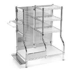 plated steel frame with stainless steel panels, and easy-clean plastic ...