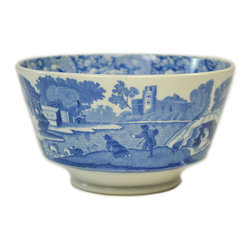 Lavish Shoestring - Consigned Small Blue and White Bowl Copeland Spodes Italian, Antique English, Ea - This is a vintage one-of-a-kind item.
