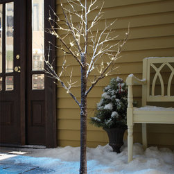 None - Order Home Collection Decorative LED 6ft Snow Tree - Create a winter spectacle of glowing light ith the Order Home Collection 6ft Decorative LED Snow Tree!With each branch lightly dusted with white snow,use the tree as a dramatic centerpiece or place it on the front deck to welcome guests in a magical way.