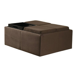 Homelegance - Kaitlyn Cocktail Ottoman - Storage and seating