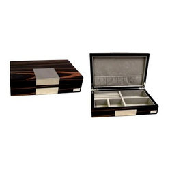 High Gloss Lacquered Valet Box - Ebony Finish - 9.75W x 2.5H in.