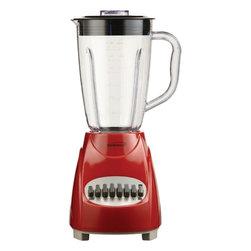 BRENTWOOD - Brentwood JB-220R 12-Speed Blender with Plastic Jar (Red) - 350W; 1.5L plastic jar; Nonskid base; Red