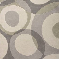 Jaipur Rugs - Hand-Tufted Geometric Pattern Wool Gray/Ivory Area Rug ( 8x10 ) - An urban contemporary styled rug collection that updates your living area with bold patterns.  Ranging from soft neutrals to strong colors these rugs could live in any home.