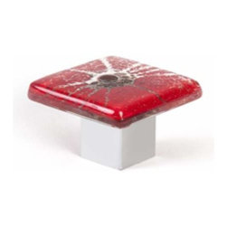 Berenson Decorative Hardware - Berenson Radiants Red Knob 1  3/8 in. Red -