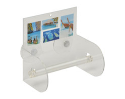 Printed Acrylic Toilet Tissue Dispenser + 2 Suction Pads Paradise Blue - This printed toilet tissue dispenser Paradise for bathrooms is in clear acrylic with sea and sand patterns. It has 2 suction pads that can easily be fixed to your tiles. Length 5.51-Inch, width 3.94-Inch and height 5.71-Inch. Wipe clean with a damp cloth. Color blue. An attractive way to dispense toilet tissue and to add an elegant design to your bathroom! Complete your Paradise decoration with other products of the same collection. Imported.
