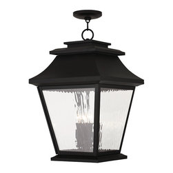 Livex Lighting - Livex Lighting 20243-04 Hathaway Outdoor Chain Hang Lantern  Black - Finish: Black
