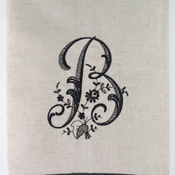 Guest Towels, Natural With Black - Talk about an elegant hostess gift. These monogrammed guest towels come in sets of three.