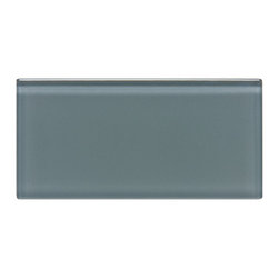"""Spa Glass - Gray 3x6 Subway Glass Tile BOX - A striking cool Gray 3x6 Glass Subway with 3/8 thickness. Perfect for brightening any space, this is the ideal tile for a backsplash, kitchen tile or bathroom tile. The tiles are individual (not mesh mounted) which allows the designer to create any configuration like traditional subway, stacked horizontal, vertical, herringbone or even create your own blend of colors. These are a very high grade glass subway tile with a baked polypropolene backing reflecting the color back thru a very clear glass. The tiles are kilned at very high temperature to make these rated as a """"Pool Tile"""" which makes the glass very durable and ideal for shower walls, wet areas and back splashes. Each piece is 3X6 and softly beveled. There are 8 pieces per square foot. They come in boxes of 4 square feet or 32 pieces.The Price is per SQUARE FOOT. There is also a SAMPLE option so you can confirm the color is perfect for your space.s ideal for bathroom tile, kitchen tile and backsplash tile. Each piece is 3X6 and there are 8 pieces per square foot.There are 8 pieces per square foot and the square foot price is $15.00. They come in boxes of 4 square feet or 32 pieces.The Price listed is for a single CARTON OF 4 SQUARE FEET. There is also a SAMPLE option so you can confirm the color is perfect for your space."""