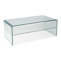 Moe's Home Collection - Moe's Home Sono Rectangular Glass Coffee Table - Contemporary glass coffee table with 2 levels for added storage and display