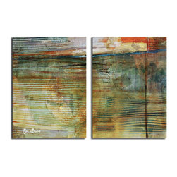 Ready2HangArt - Ready2HangArt Alexis Bueno 'Smash XVI' Oversized Canvas 2-piece Wall Art Set - This abstract canvas art is the perfect addition to any contemporary space. It is fully finished, arriving ready to hang on the wall of your choice.