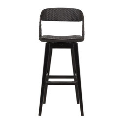 Stanley Furniture - Archipelago-Tambu Bar Stool - Introduce the natural world to your d'cor. Its seat and back crafted from woven materials, our Tambu Bar Stool exudes a confident, relaxed mood that likes informal settings, but doesn't shy away from places where the drinks arrive in glasses that have stems.