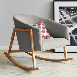 Ryder Rocking Chair - I don't think I've seen a rocker this sleek. It looks so comfortable that I'd be tempted to put it in the bedroom, but it's so beautiful that I would want it out where everyone could see it.