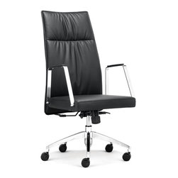 Zuo Modern - Zuo Modern Dean Modern High Back Office Chair X-031602 - Straight and simple, the Dean High Back Office Chair may be the perfect choice for your workday. Made of leatherette and chromed steel. Comes in black or white.