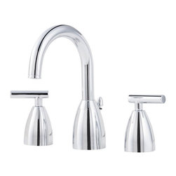 Price Pfister - Price Pfister F-049-NC00 Contempra Double Handle High-Arch Widespread Lead Free - Price Pfister F-049-NC00 Contempra Double Handle High-Arch Widespread Lead Free Bathroom Faucet in Polished ChromeFeaturing sweeping curves and sleek, modest lines, this high-arc spout rises gracefully over the sink for accessibility and modern style. The full-bodied metal lever handles are strong and durable. It is WaterSense certified with a 1.5 GPM flow rate to conserve water without compromising your water experience.Price Pfister F-049-NC00 Contempra Double Handle High-Arch Widespread Lead Free Bathroom Faucet in Polished Chrome, Features:• 2-handle lever design for ease of use