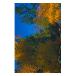 Water Painting Fall Japanese Garden No 4, Limited Edition, Photograph - Fall at the Japanese Garden at the Seattle Arboretum creates beautiful and warm abstract colors.  Image is printed on 16x20 paper with a 1 border and matted at 24x32 ready for framing