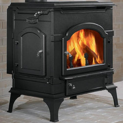 Majestic - Majestic Dutchwest Non-Catalytic Wood Stove Multicolor - NED219 - Shop for Fire Places Wood Stoves and Hardware from Hayneedle.com! All you need to do is gently goad the bearded and would-like-to-be-bearded men around you by reminding them that a true test of manliness is splitting firewood with an axe and you'll never run out of wood to fill the Majestic Dutchwest Non-Catalytic Wood Stove. But you really don't even need to fill it as this non-catalytic stove requires less wood to achieve a full burn than most other stoves on the market. The cast-iron body is crafted in the Federal style with a jet black finish and nickel accents on the handles and knobs. Wood can be loaded safely from the side or the front while stately irons hold the logs in place and a wide glass window lets you enjoy the crackling beauty of a newly started fire. The state-of-the-art EVERBURN combustion system combines just the right amount of air with the gasses from the burning wood to ensure that the wood is burned completely. When it's time to clean you can easily remove the ash from the lower ash drawer and leveling feet let you get a steady footing on even the most uneven of surfaces. The top and rear reversible flue collars let you decide where you would like to vent the flue gasses The equipment necessary for a three-inch outside air connection comes standard with this unit but a three-inch outside air kit is required to complete outside air installation. It is recommended that you use a professional installer to ensure the safety of the exhaust system. About MajesticFor over 50 years Majestic has crafted a name synonymous with quality wood and gas fireplaces for the home. With a vast array of products and styles including wood electric modern and traditional Majestic has something for every taste and decor. Majestic products are built to last offering a quality construction and innovative design structure that has made them a premier choice for homes across North America and b