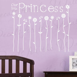 Decals for the Wall - Wall Sticker Decal Quote Vinyl Art Lettering Girl's Room Our Little Princess B43 - This decal says ''Our little Princess''