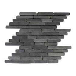 CNK Tile - Grey Pencil Stone Mosaic Tile - Usage: