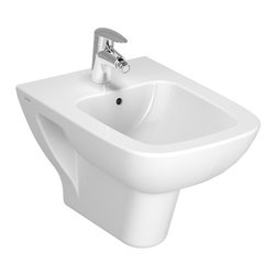 Vitra - Contemporary Ceramic Square White Wall-Hung Bidet for Bathroom - A sensible piece for a luxurious or contemporary personal bathroom, this wall hung bidet is the perfect option.