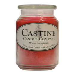 Castine Candle Company - Winter Pomegranate 26oz Candle - The sweet citrus scent of pomegranate blended with cassis, acai berry and vanilla bring you a perfect scent for your holidays.  Burn time 80-125 hours.  Made in America.  26oz