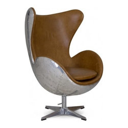 KENNEDY COLUMBIA BROWN ARM CHAIR - Add a retro modern touch to your ...