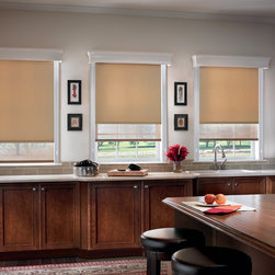 Bali Roller Shades: Manhattan Room Darkening Roller Shades - Choose Bali Manhattan Room Darkening Roller Shades for window coverings that are easy to operate, affordable and available in all the newest colors and fabrics. A range of colors and fabrics make it easy to coordinate Roller Shades with Roman and Pleated Shades, Vertical Blinds, Sliding Panels and more.