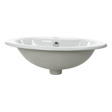 Caracalla - Oval Shaped Ceramic Self Rimming Bathroom Sink - If you would like a different shape sink in your bathroom consider this. Oval. Not round, not square, not rectangular but oval. You can trust the Italians to get it right. Design is what they're famous for.