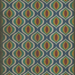 Spicher and Company - Vinyl Floorcloth Pattern XV by Spicher and Company - Inspired by old floor mats and vintage linoleum, these vibrant vinyl floor cloths offer warm colors with beautiful aged characteristic. Their worn appeal makes them great in kitchens and baths, while the smooth surface is perfect in an office where rolling chairs can glide. The cloths can be used in controlled outdoor settings such as a screened-in porch or covered lanai. These wonderful designs are printed on durable, certified non-slip, lay-flat vinyl. Due to their mastered printing process please expect some variation in hue and saturation. With a wide range of color combinations and sizes to choose from, enjoy picking your favorites to dress up your floor. (SC)